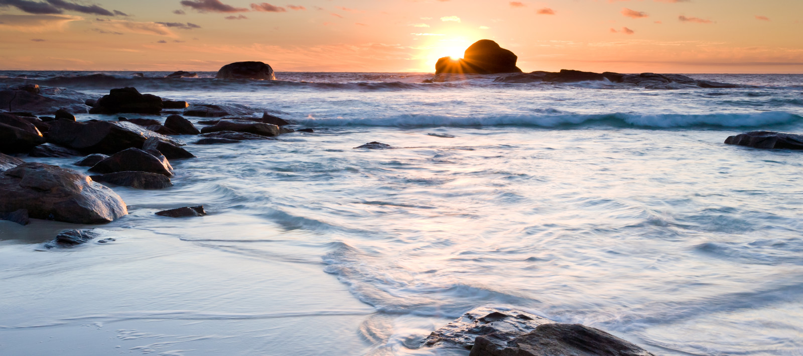 Redgate Beach at Sunset